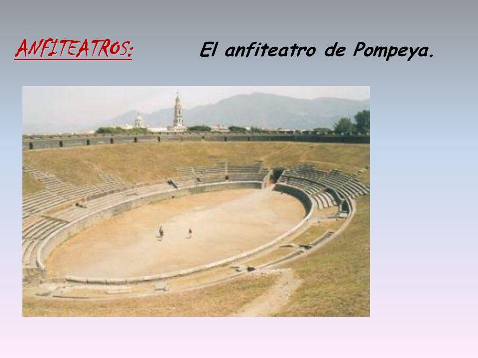 ANFITEATROS: El anfiteatro de Pompeya.