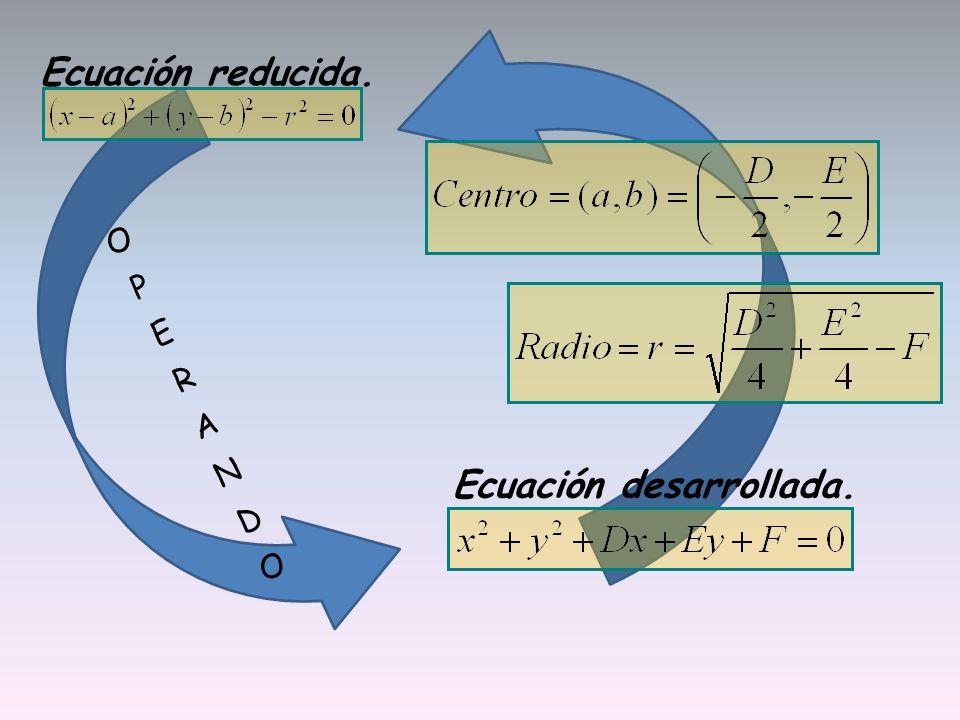 Ecuación desarrollada.
