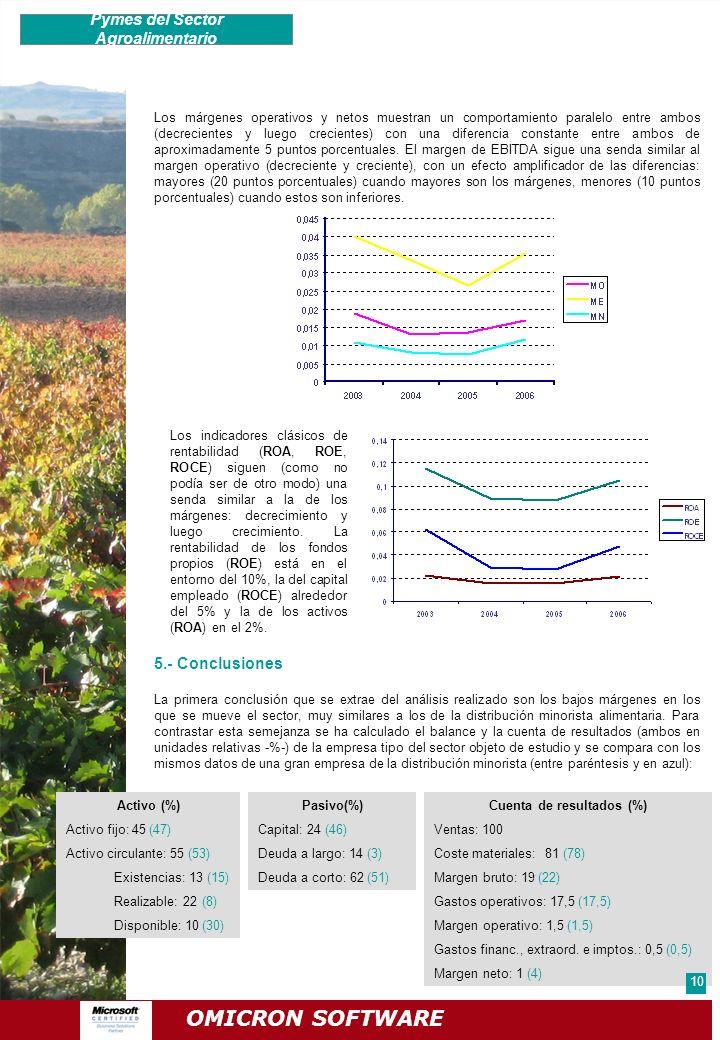 Pymes del Sector Agroalimentario Cuenta de resultados (%)
