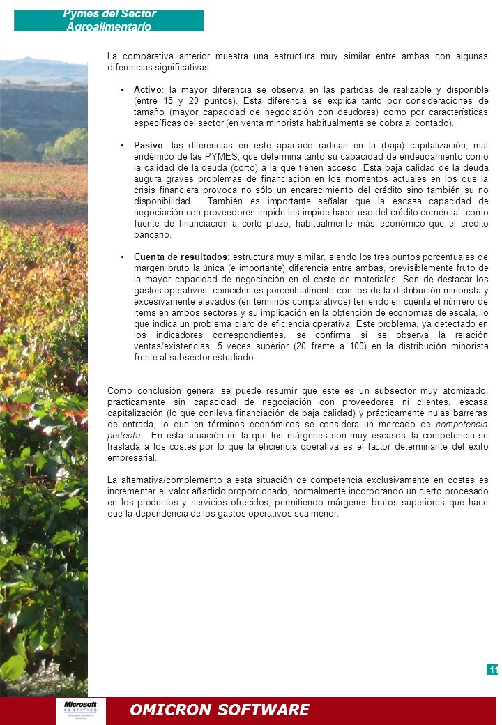 Pymes del Sector Agroalimentario