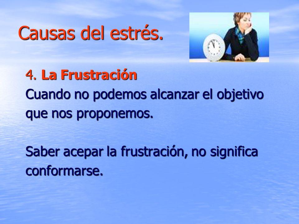 Causas del estrés. 4. La Frustración
