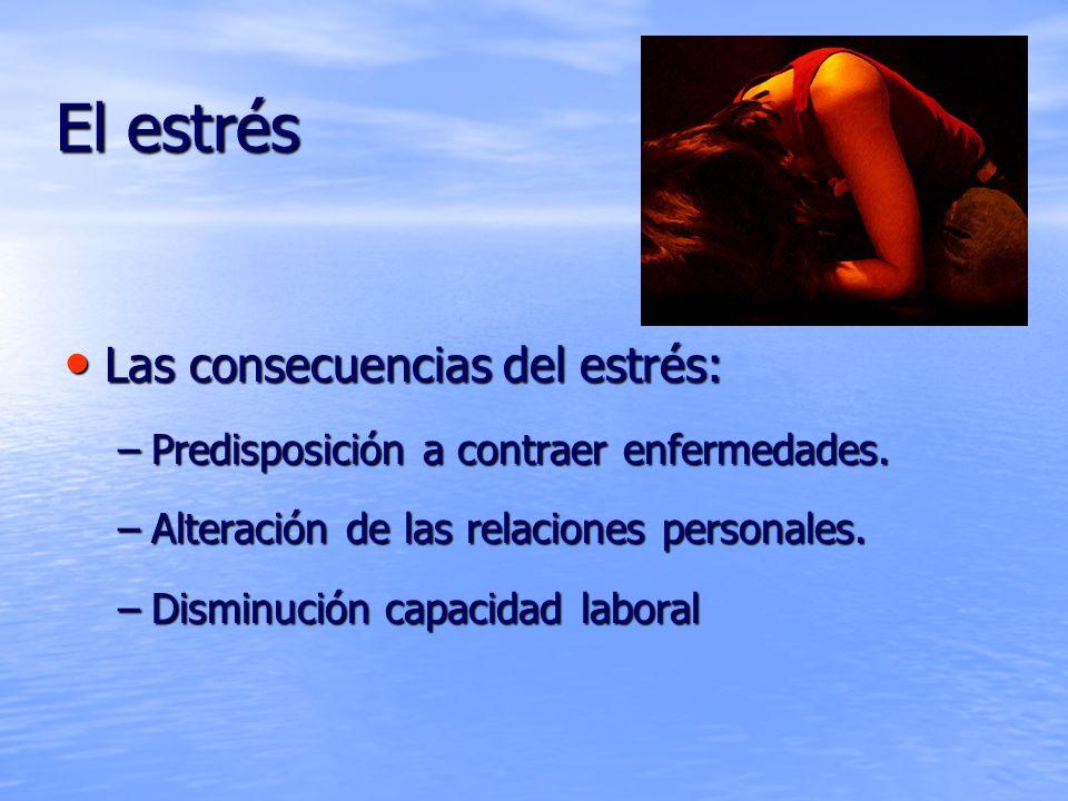 El estrés Las consecuencias del estrés: