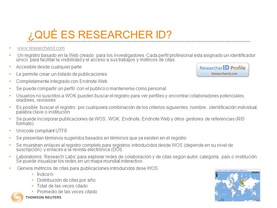 ¿QUÉ ES RESEARCHER ID www.researcherid.com