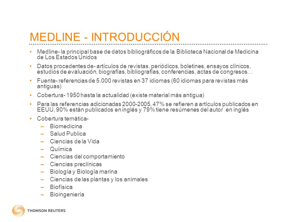 MEDLINE - INTRODUCCIÓN