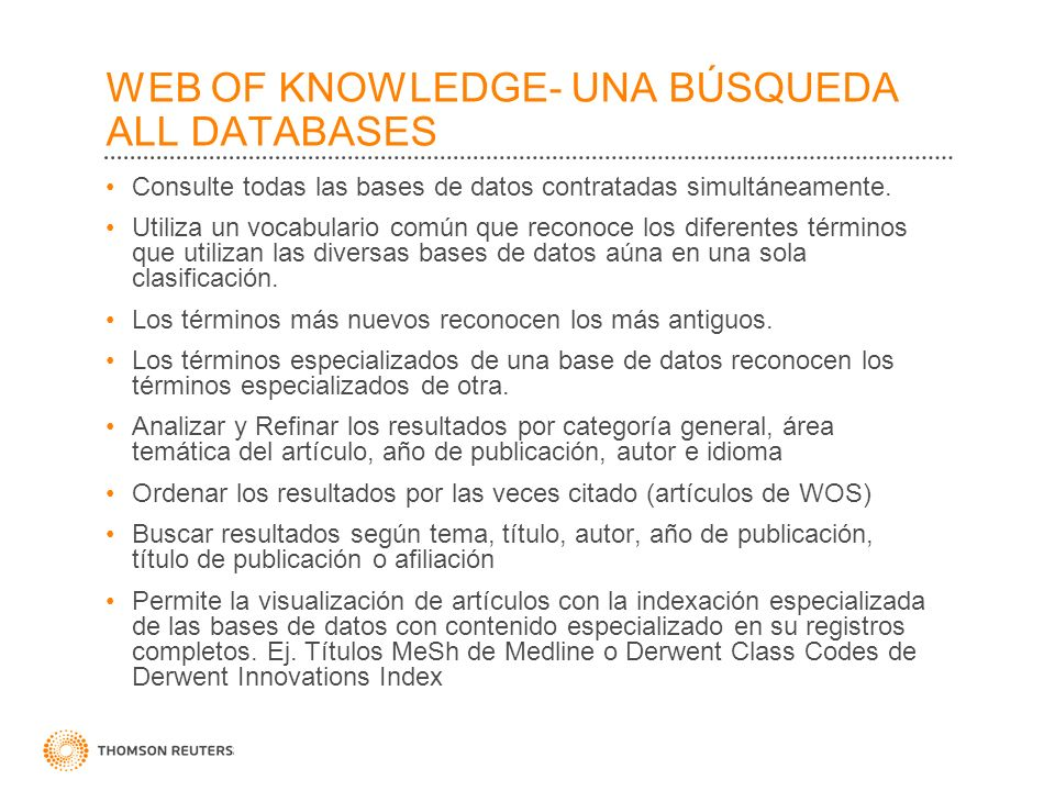 WEB OF KNOWLEDGE- UNA BÚSQUEDA ALL DATABASES