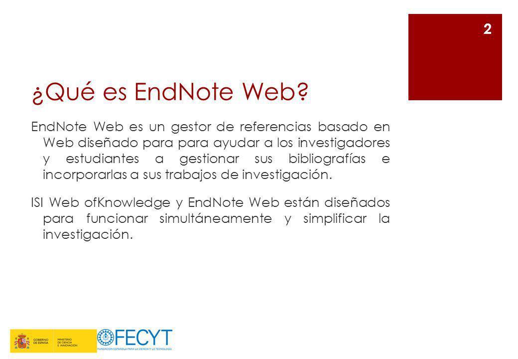 ¿Qué es EndNote Web