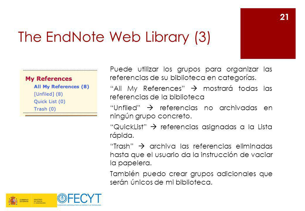 The EndNote Web Library (3)