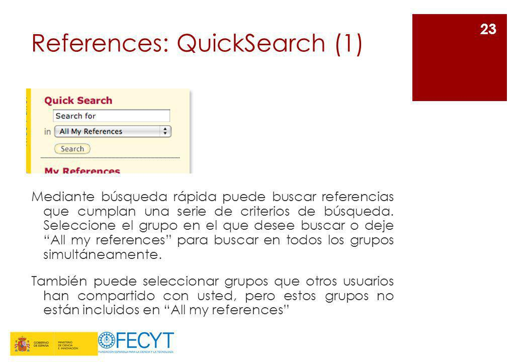 References: QuickSearch (1)