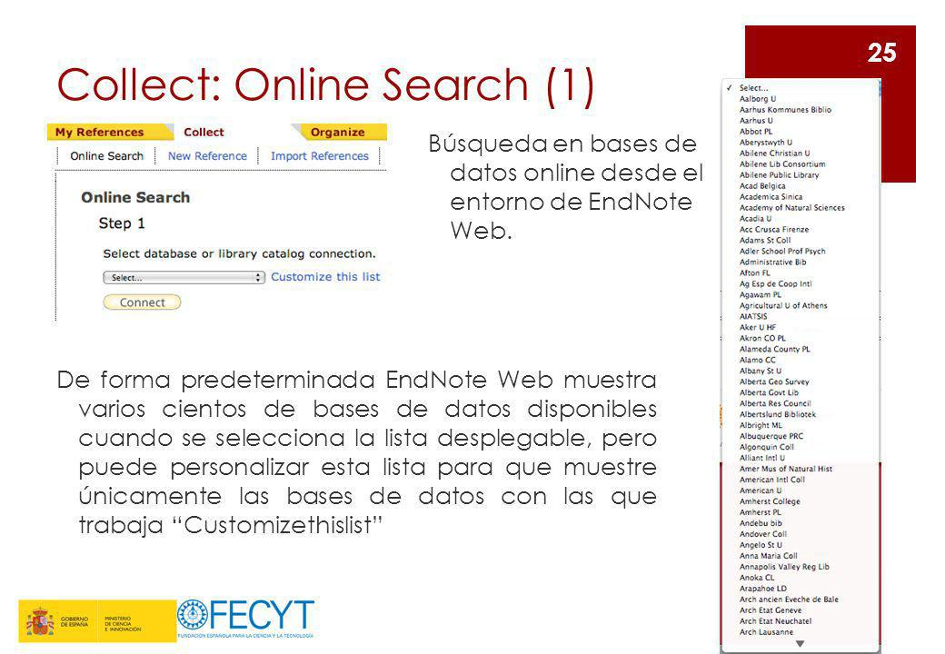 Collect: Online Search (1)