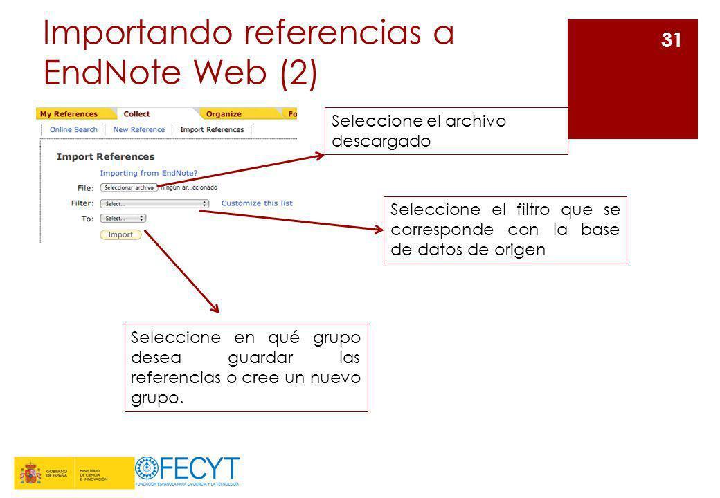 Importando referencias a EndNote Web (2)