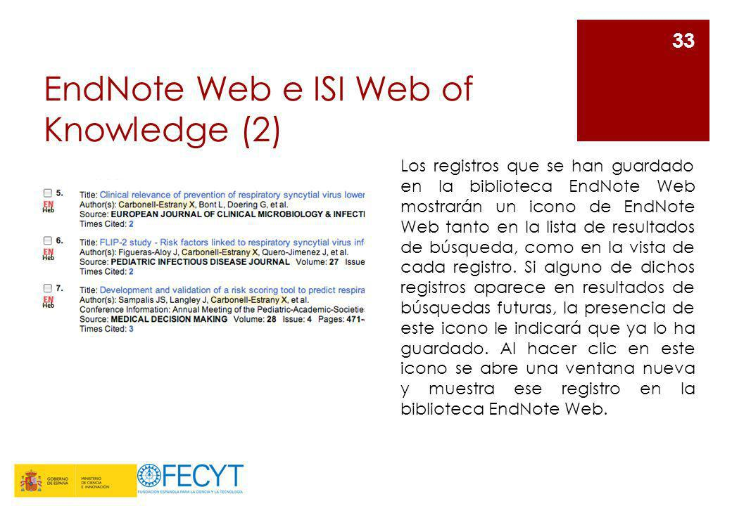 EndNote Web e ISI Web of Knowledge (2)