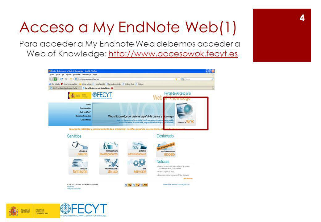 Acceso a My EndNote Web(1)