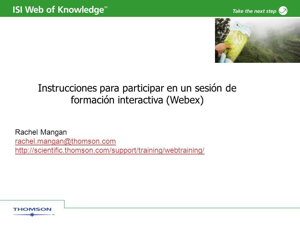Instrucciones para participar en un sesión de formación interactiva (Webex)