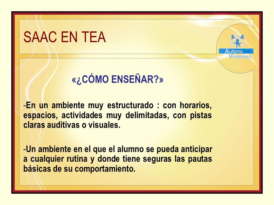 SAAC EN TEA «¿CÓMO ENSEÑAR »