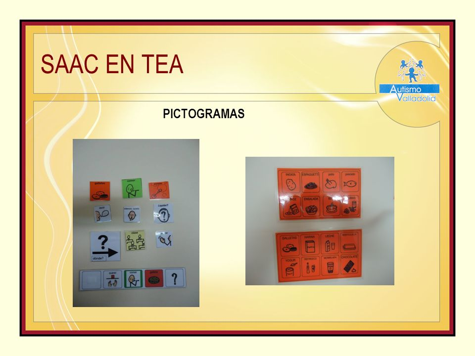 SAAC EN TEA PICTOGRAMAS