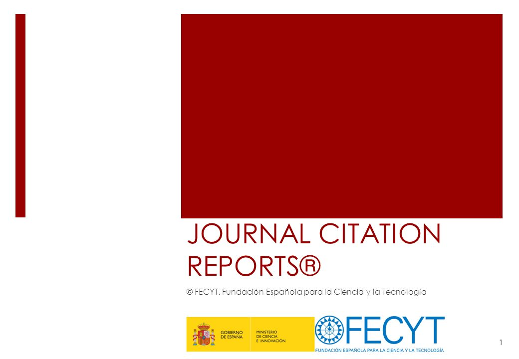 JOURNAL CITATION REPORTS®