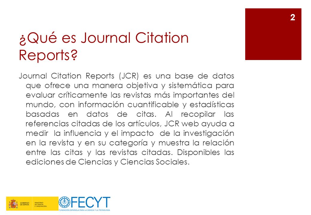 ¿Qué es Journal Citation Reports