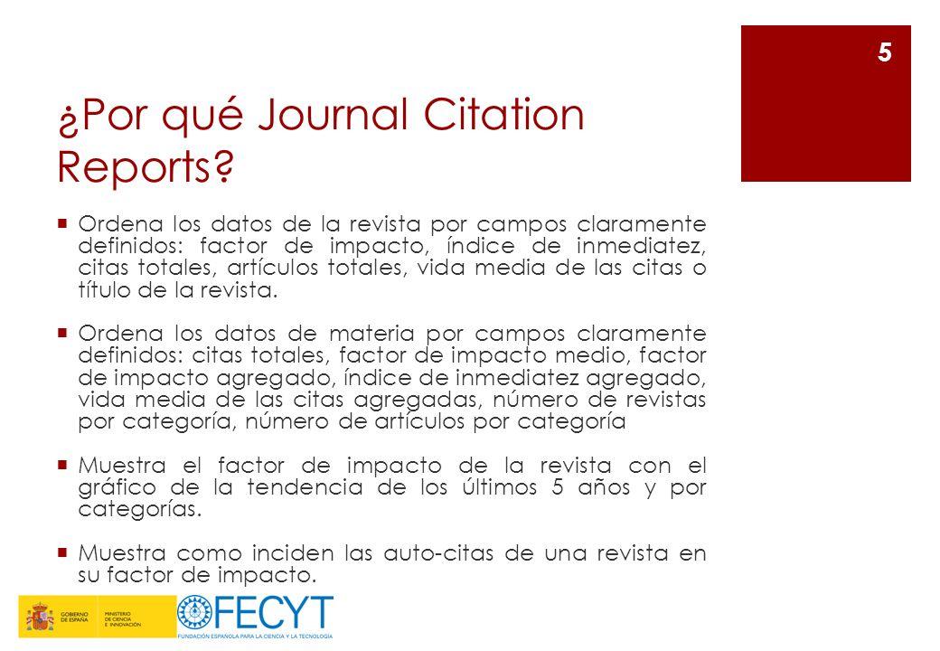 ¿Por qué Journal Citation Reports