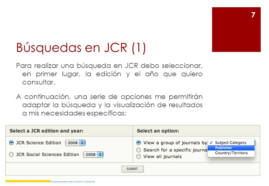 Búsquedas en JCR (1)
