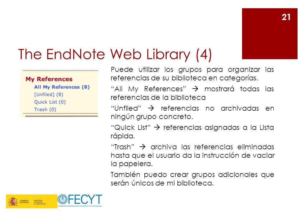 The EndNote Web Library (4)