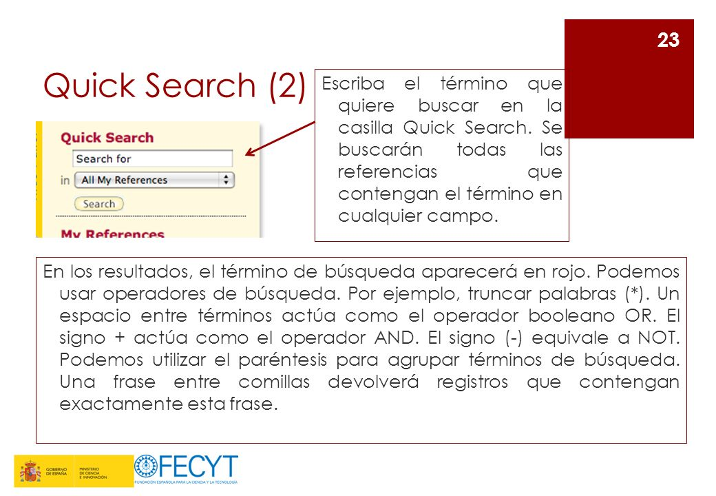 Quick Search (2)