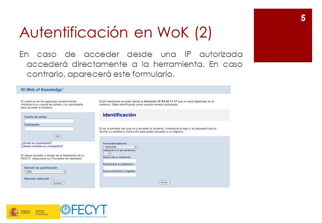 Autentificación en WoK (2)
