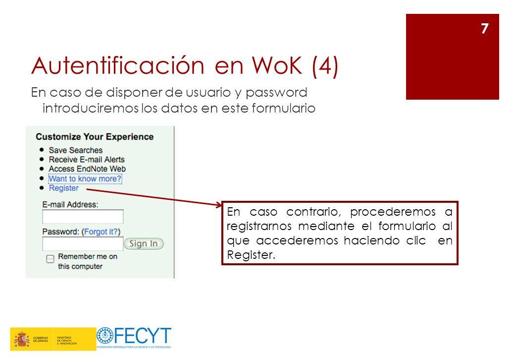Autentificación en WoK (4)