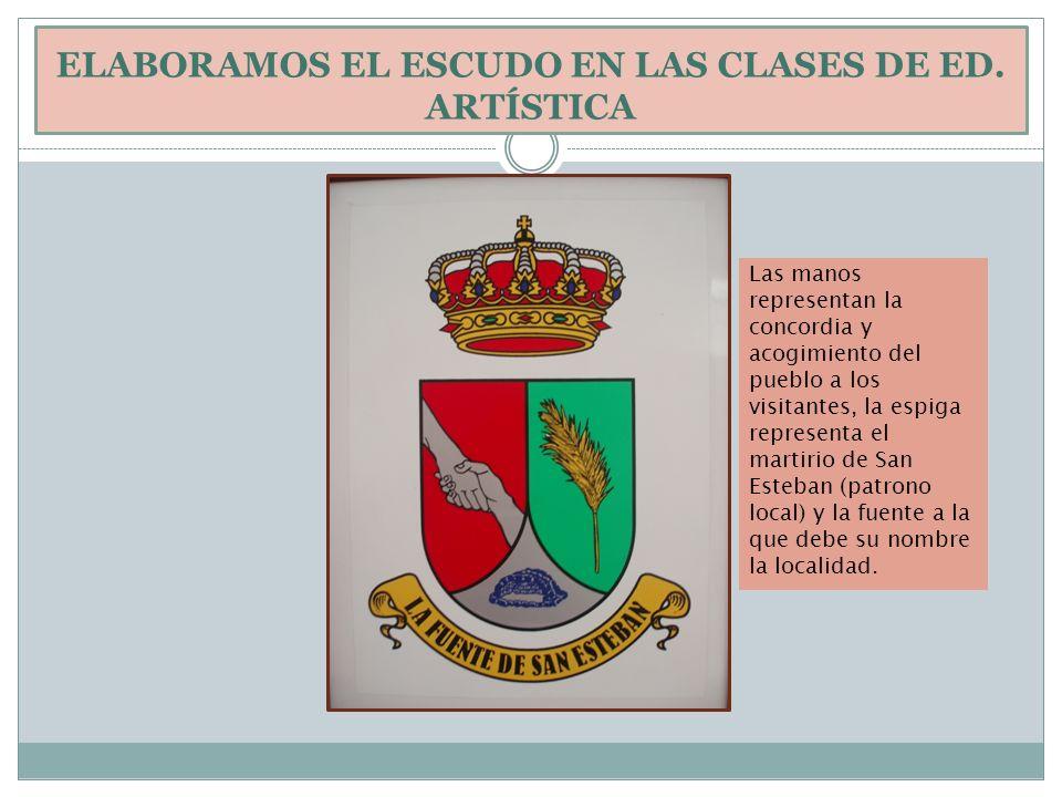 ELABORAMOS EL ESCUDO EN LAS CLASES DE ED. ARTÍSTICA