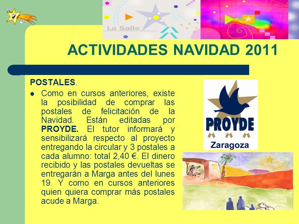 ACTIVIDADES NAVIDAD 2011 POSTALES.