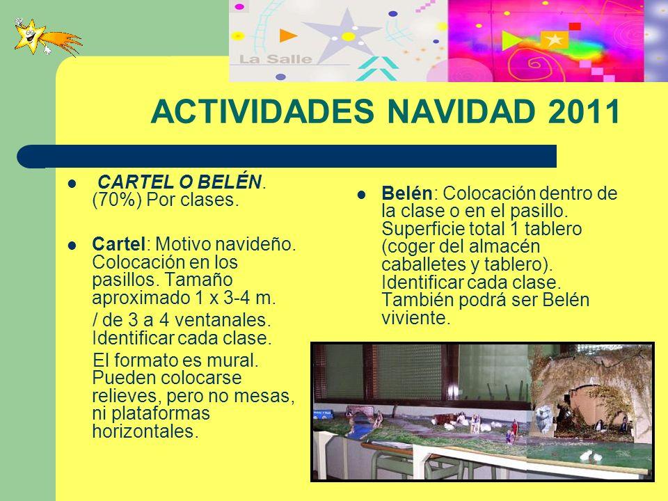 ACTIVIDADES NAVIDAD 2011 CARTEL O BELÉN. (70%) Por clases.