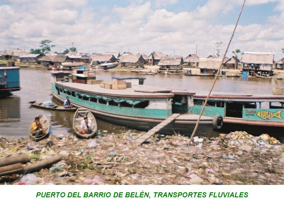 PUERTO DEL BARRIO DE BELÉN, TRANSPORTES FLUVIALES