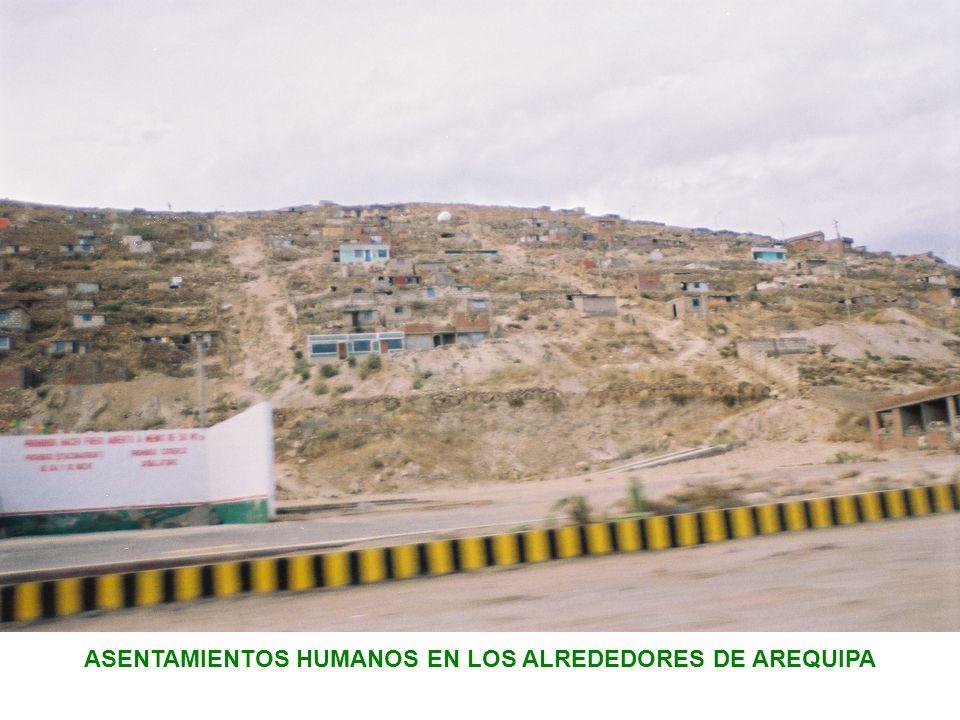 ASENTAMIENTOS HUMANOS EN LOS ALREDEDORES DE AREQUIPA