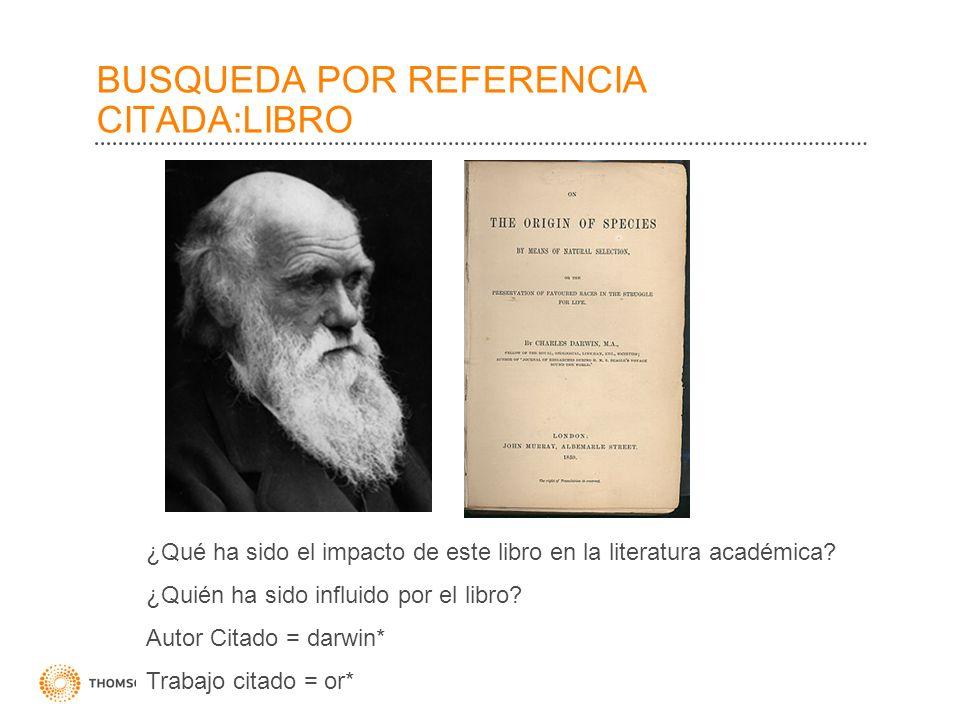 BUSQUEDA POR REFERENCIA CITADA:LIBRO