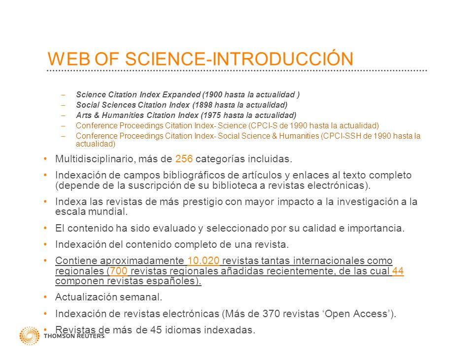 WEB OF SCIENCE-INTRODUCCIÓN