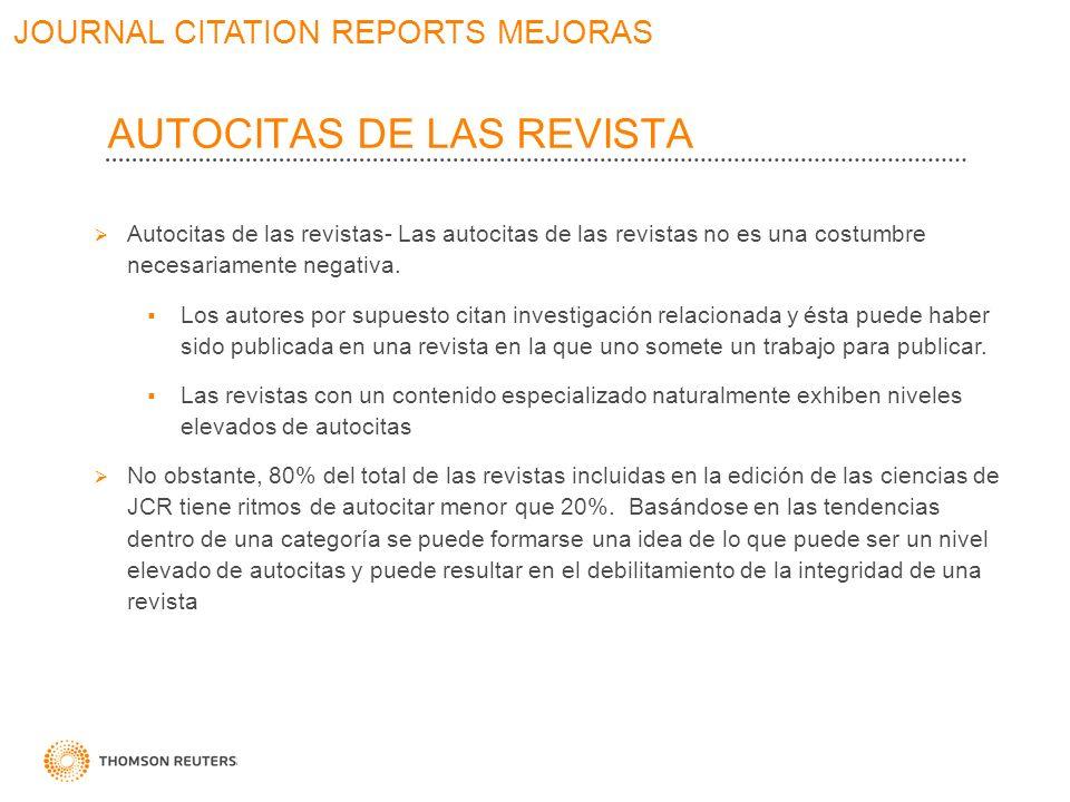 AUTOCITAS DE LAS REVISTA