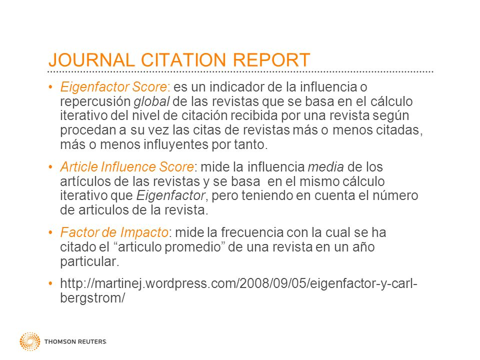 JOURNAL CITATION REPORT