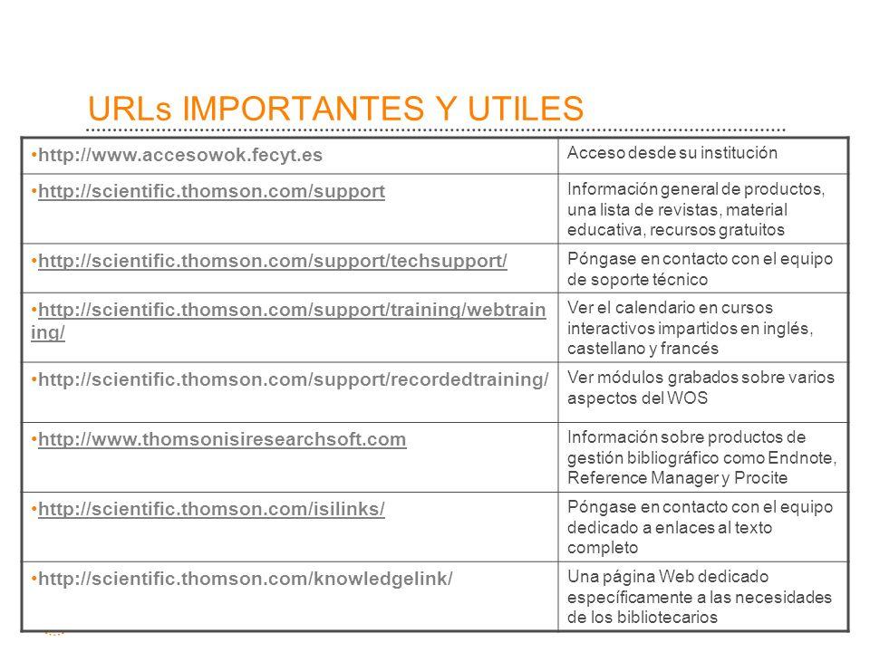 URLs IMPORTANTES Y UTILES