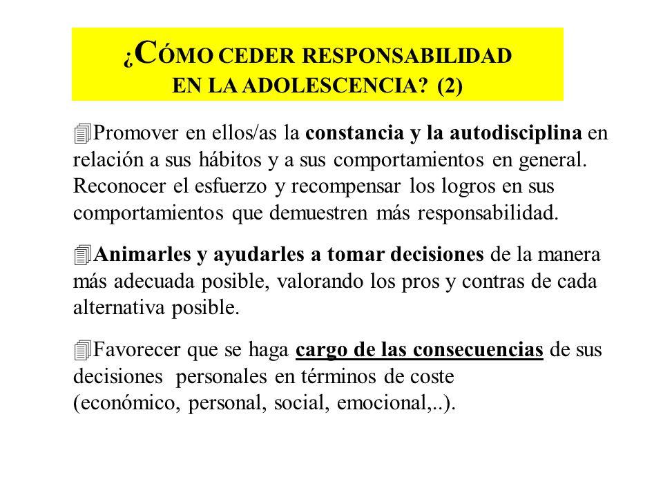 ¿CÓMO CEDER RESPONSABILIDAD EN LA ADOLESCENCIA (2)