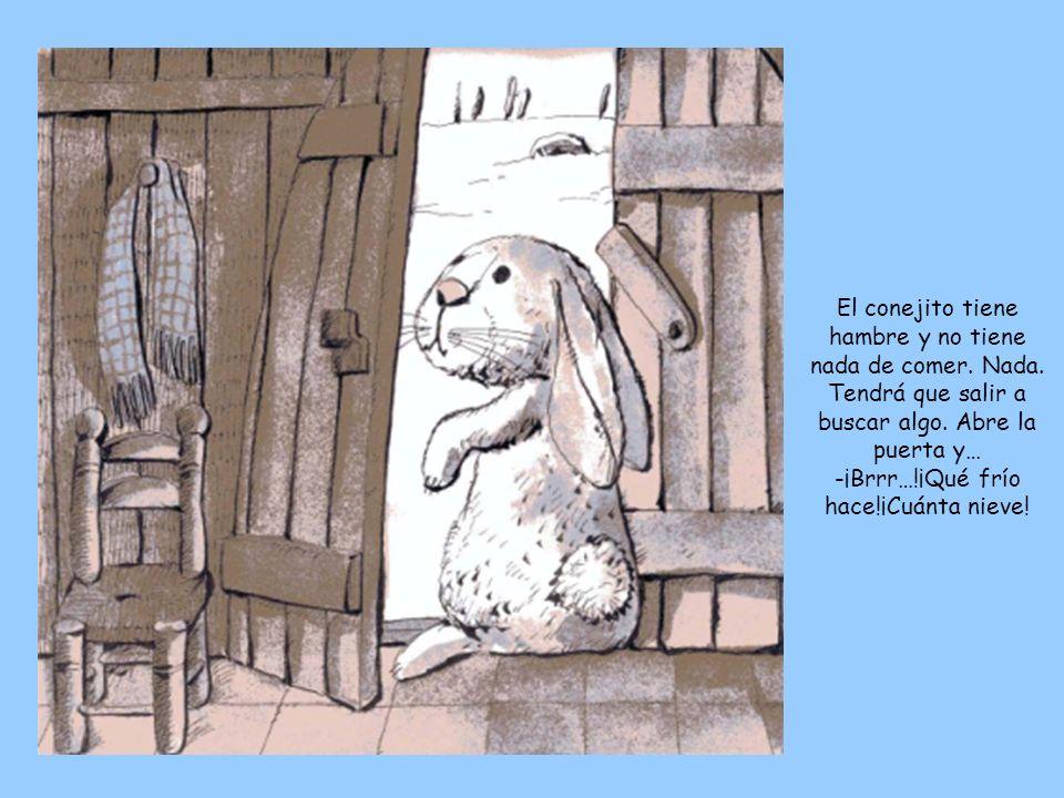 El conejito tiene hambre y no tiene nada de comer. Nada