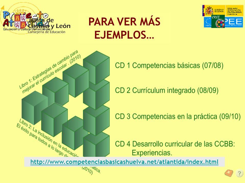 PARA VER MÁS EJEMPLOS… http://www.competenciasbasicashuelva.net/atlantida/index.html