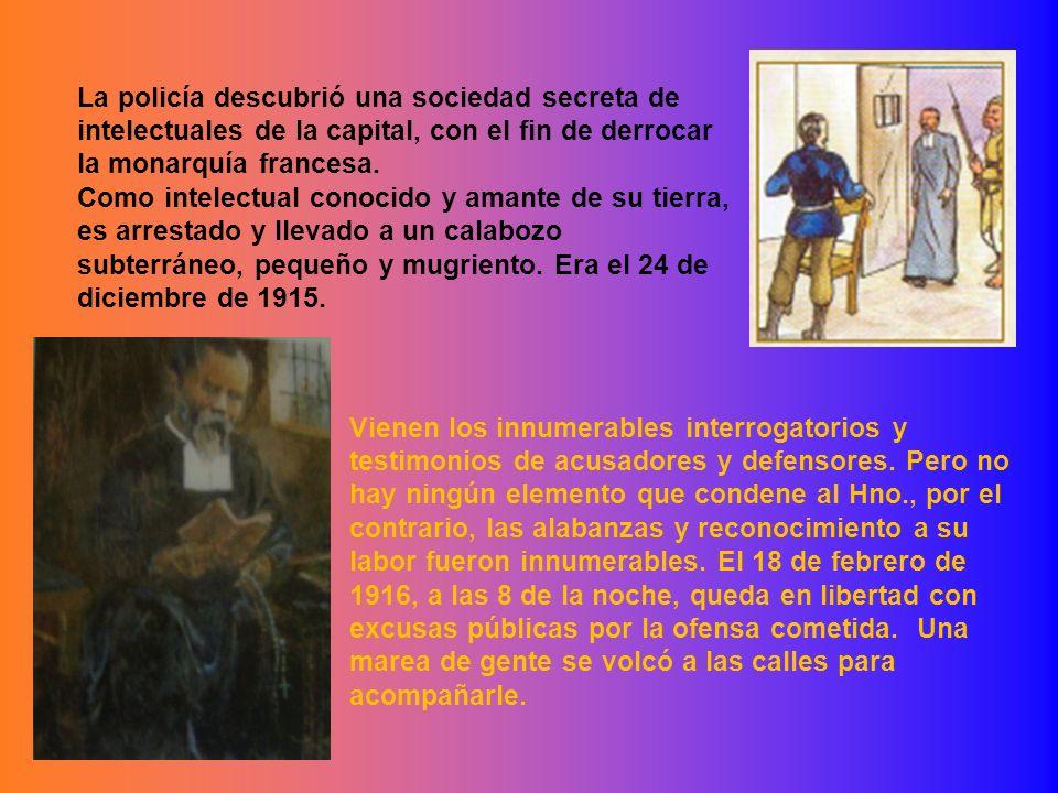 La policía descubrió una sociedad secreta de intelectuales de la capital, con el fin de derrocar la monarquía francesa.