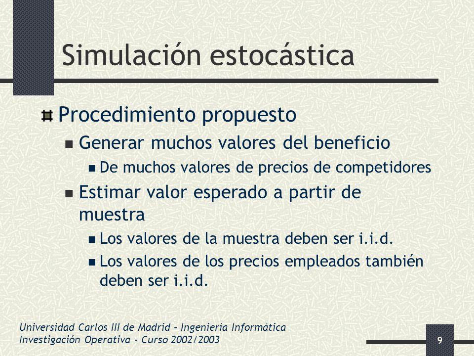 Simulación estocástica