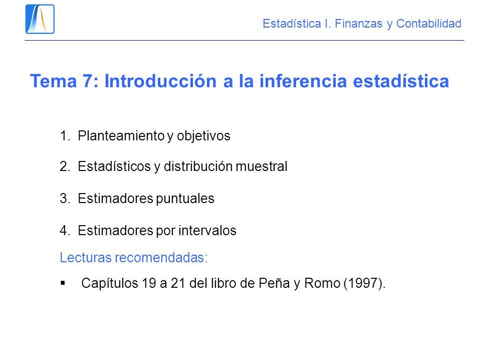 Tema 7: Introducción a la inferencia estadística