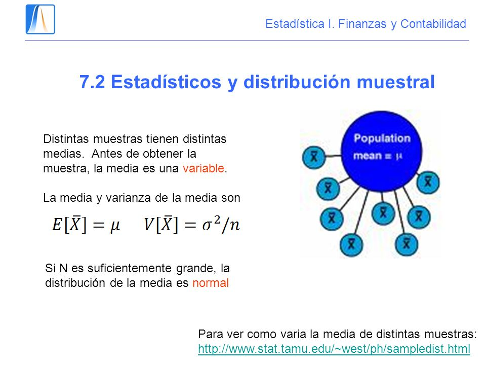 7.2 Estadísticos y distribución muestral