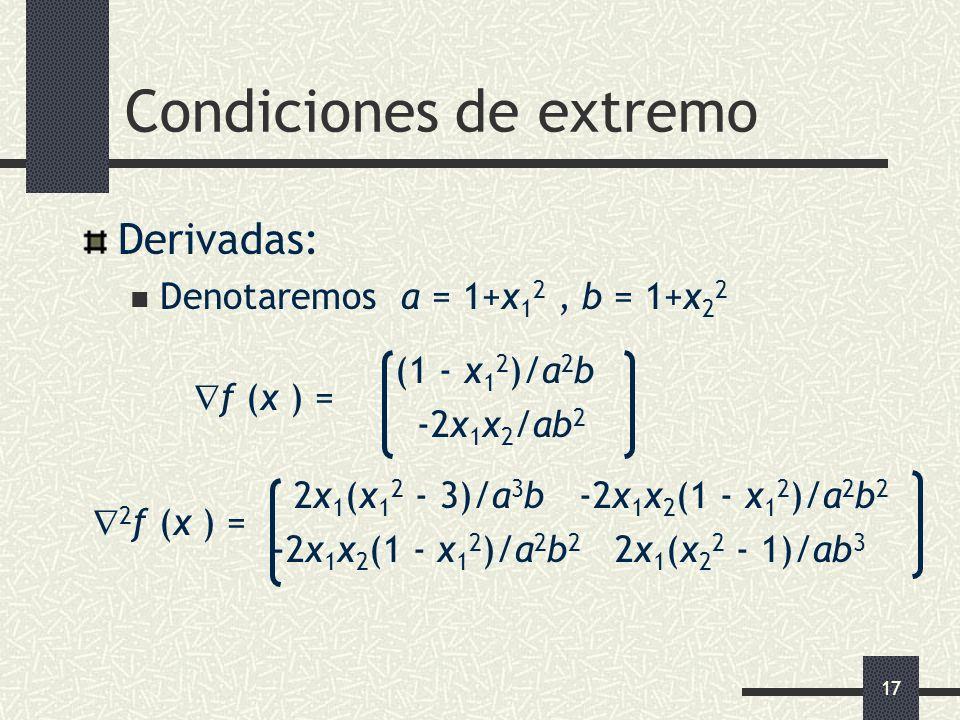 Condiciones de extremo