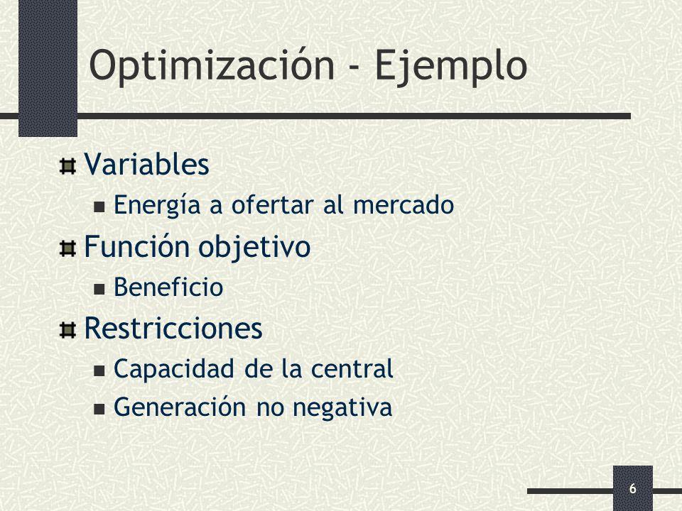 Optimización - Ejemplo