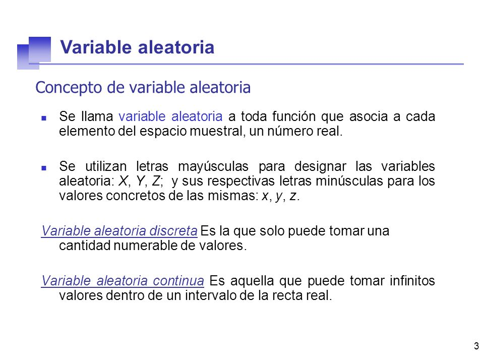 Concepto de variable aleatoria