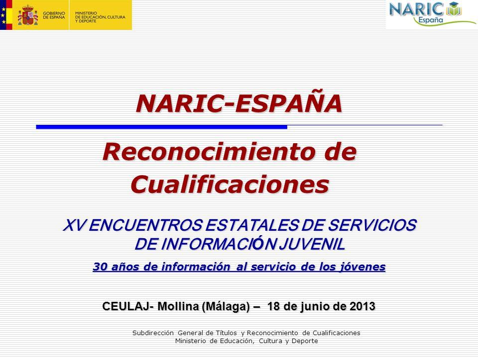 NARIC-ESPAÑA Reconocimiento de Cualificaciones