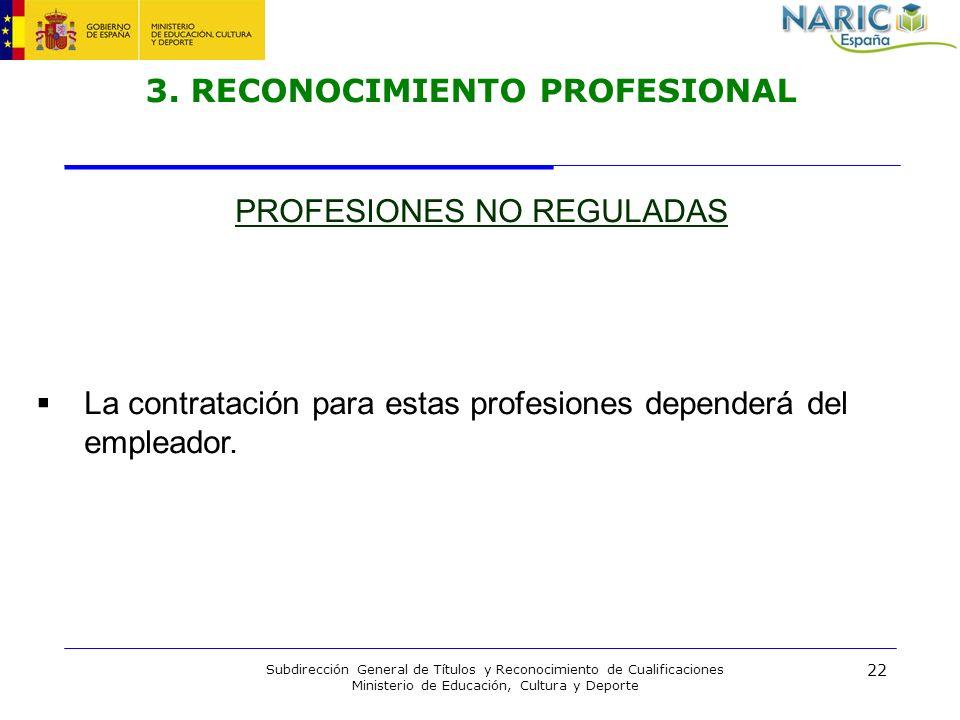 3. RECONOCIMIENTO PROFESIONAL