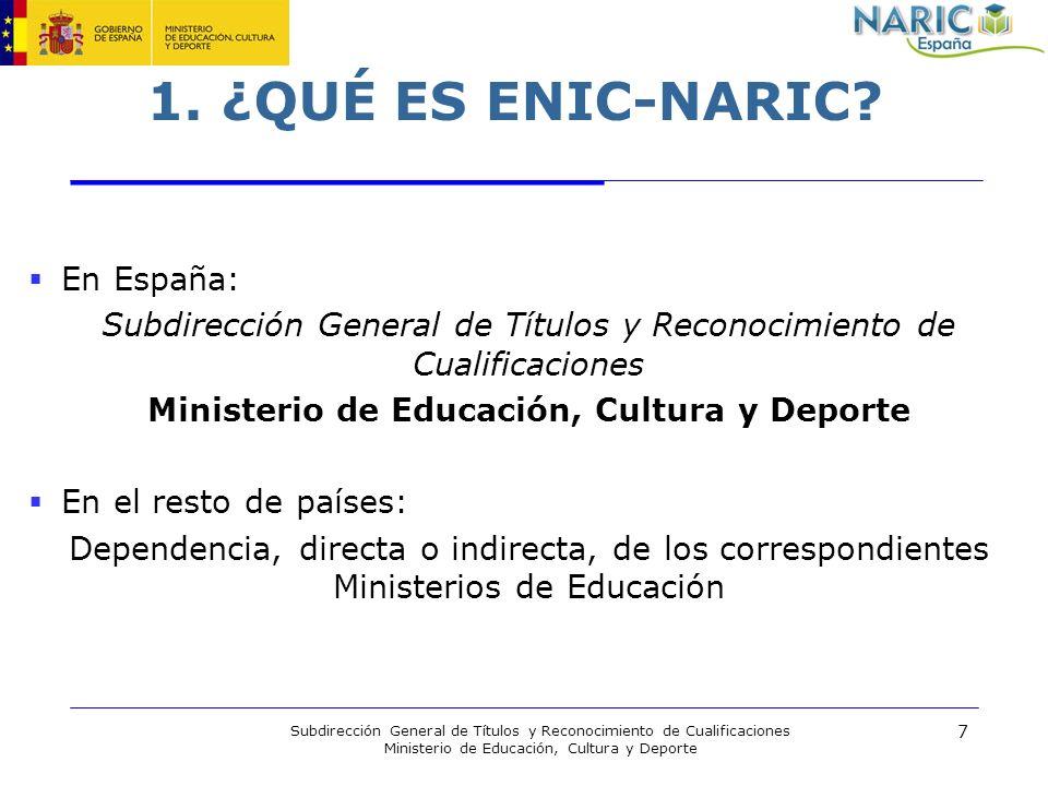 1. ¿QUÉ ES ENIC-NARIC En España: